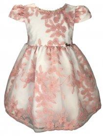 Imagem - Vestido Infantil Cattai de Renda com Colar de Pérolas