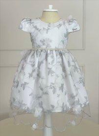 Imagem - Vestido Infantil Cattai de Renda com Flores 3D