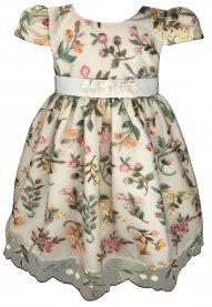 Imagem - Vestido Infantil Cattai de Renda e Flores na Cintura