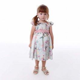 Imagem - Vestido Infantil Cattai Floral com Rosas na Cintura