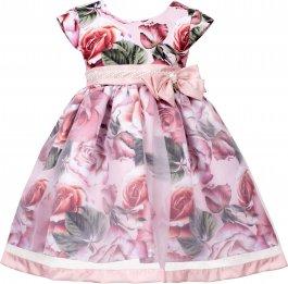 Imagem - Vestido Infantil Cattai Floral com Saia de Transparência