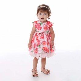 Imagem - Vestido Bebê Cattai Floral com Strass