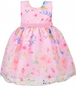 Imagem - Vestido Infantil Cattai Floral e Cinto de Pérolas