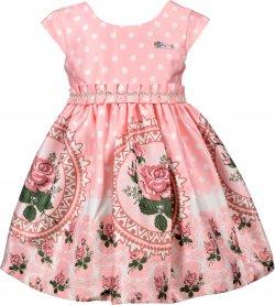 Imagem - Vestido Infantil Cattai Floral e Poá