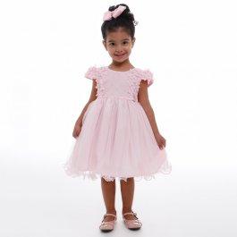 Imagem - Vestido Infantil Cattai Flores 3D e Saia de Brilho