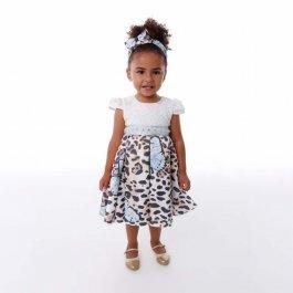 Imagem - Vestido Infantil Cattai Onça e Borboletas