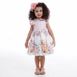 Imagem - Vestido Infantil Cattai Ursos e Flores