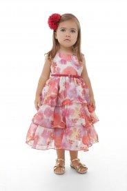 Imagem - Vestido Infantil Plinc Ploc Babados e Cinto de Couro