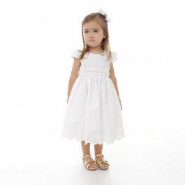 Imagem - Vestido Infantil Plinc Ploc Branco de Laise
