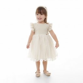 Imagem - Vestido Infantil Plinc Ploc com Colar de Pérolas