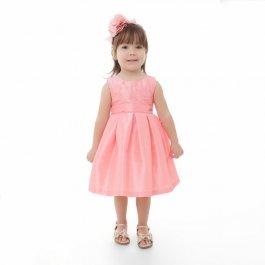 Imagem - Vestido Infantil Plinc Ploc de Pregas e Paetês