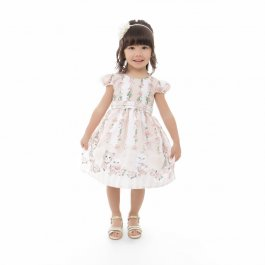Imagem - Vestido Infantil Plinc Ploc Menina e Gatinhos