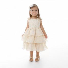 Imagem - Vestido Infantil Plinc Ploc Peito de Renda e Babados