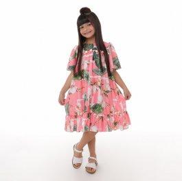 Imagem - Vestido Juvenil Cattai Floral com Pom Pom