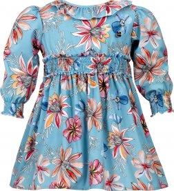 Imagem - Vestido Juvenil Cattai Floral Lastex na Cintura