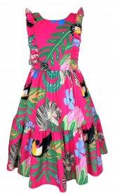 Imagem - Vestido Juvenil Cattai Floral Pink