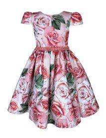Imagem - Vestido Juvenil Cattai Floral e Cinto de Pérolas