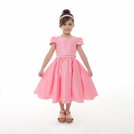 Imagem - Vestido Juvenil Cattai Rosa com Strass no Cinto