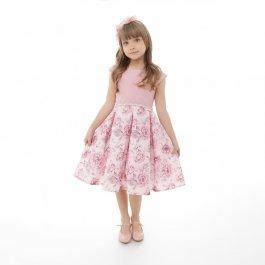 Imagem - Vestido Juvenil  Plinc Ploc Rose com Peito Bordado