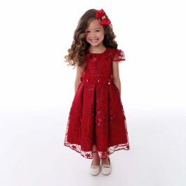 Imagem - Vestido Juvenil Renda Luxo com Brilho