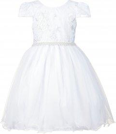 Imagem - Vestido Teen Cattai Branco com Renda