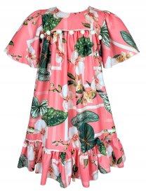 Imagem - Vestido Teen Cattai Floral com Pom Pom