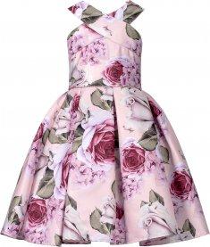 Imagem - Vestido Teen Cattai Floral com Strass na Cintura