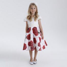Imagem - Vestido Teen Cattai Floral Vermelho