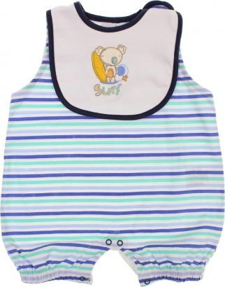 Banho de Sol Macacão Curto Listras Baby Gijo 6038