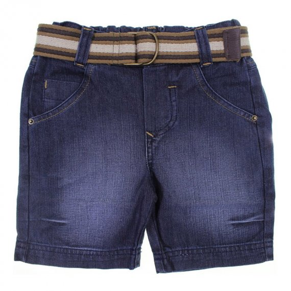 Bermuda Jeans Infantil com Cinto