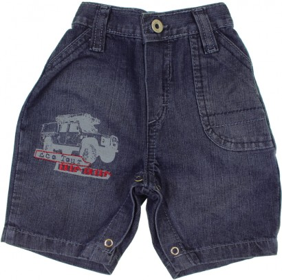 Bermuda Jeans para Bebê Menino Din Don 6753