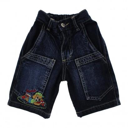 Bermuda Jeans Infantil Bordada