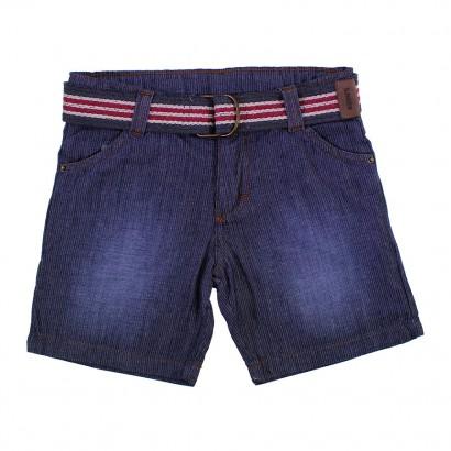 Bermuda Jeans Infantil Listrado Menino 8606
