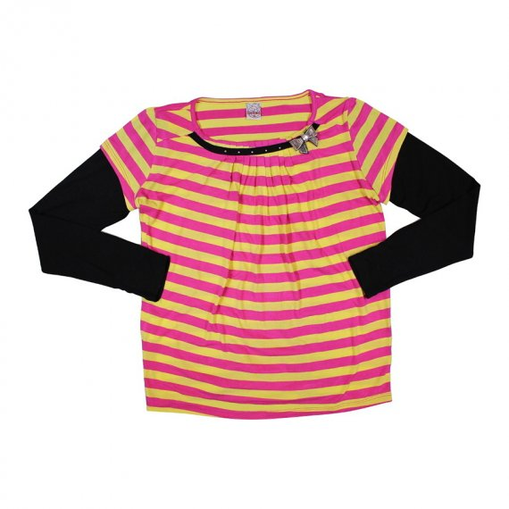 Blusa Listrado para Menina Infantil Bonnemini 6796