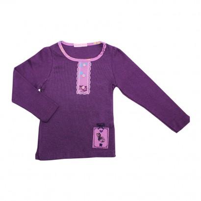 Blusa Infantil Menina de Malha Canelada Rabbit - 7741
