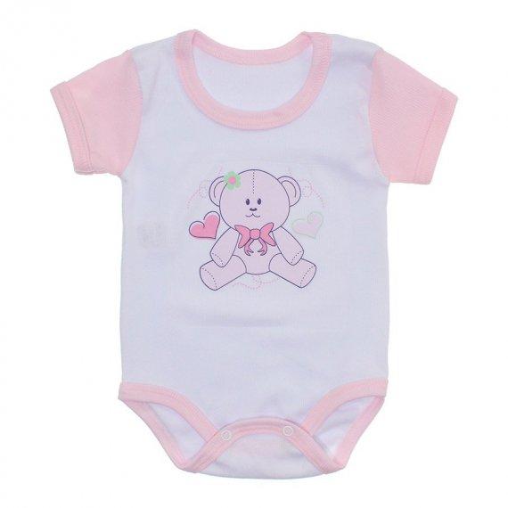 Body Bebê Malha Canelada Estampado