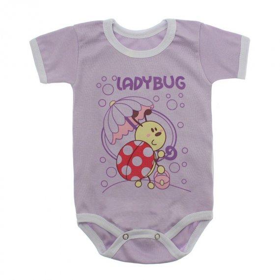 Body Bebê Manga Curta Estampado Lapuko