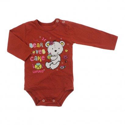 Body Bebê Manga Longa Lapuko
