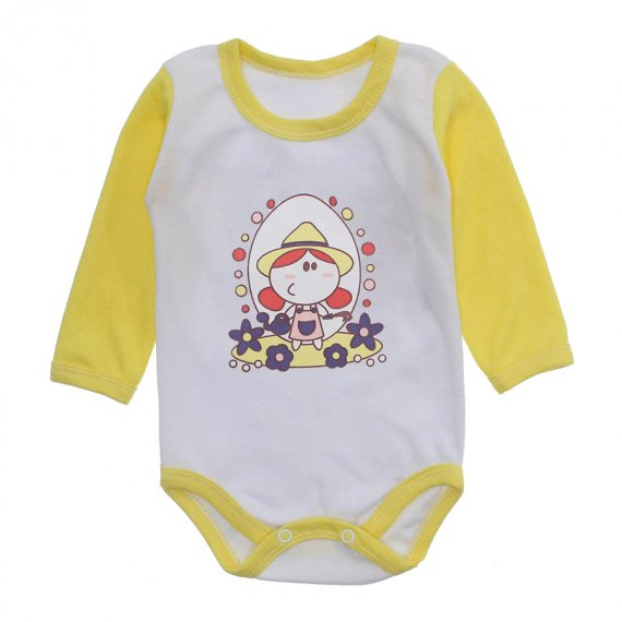 Body Bebê Menina Estampado Lapuko