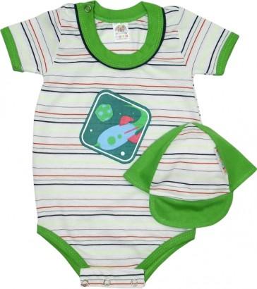 Body Manga Curta Bebê Bonézinho Menino