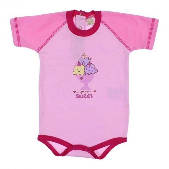 Body de Bebê Manga Curta Smoby Baby 6019