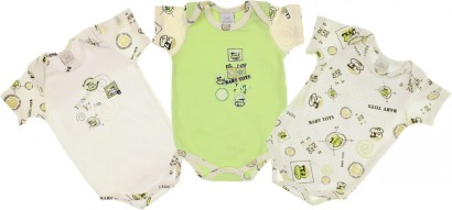 Body para Bebê Manga Curta Baby Frog kit 3 pçs - Cod. 5737
