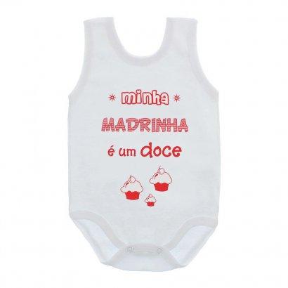Body de Bebê Regata Unissex com Frases
