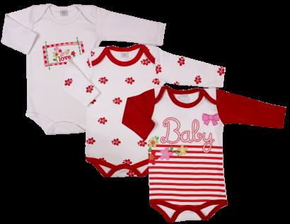 Body de Bebê Kit 3 Peças 5837