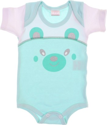 Body Manga Curta Bebe Urso