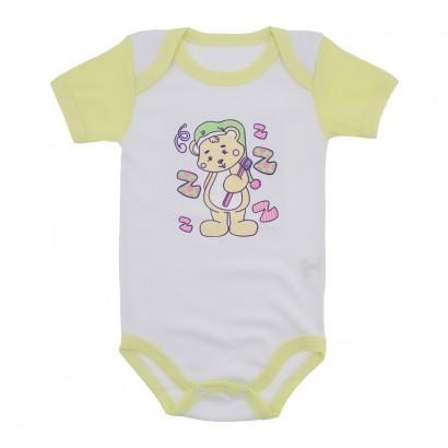 Body para Bebê Menina Mangas Coloridas