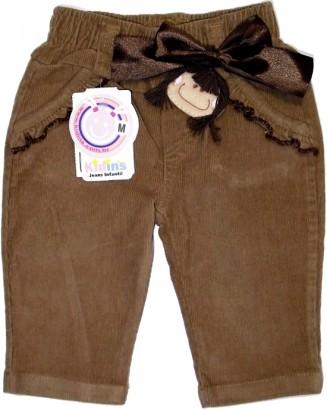 Calça de Veludo para Menina Boneca - 5313