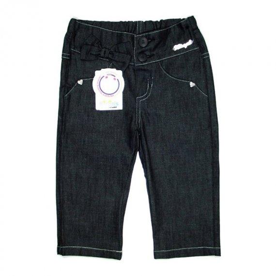 Jeans Infantil Calça de Menina Laço