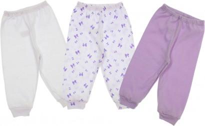 Calças para Bebê Menina Sem Pé 3 Peças