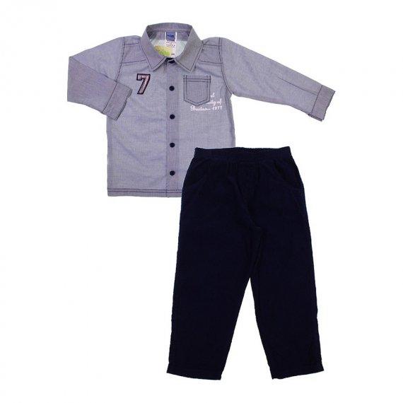 Conjunto Infantil Camisa e Calça Cotelê 6684
